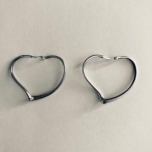 Tiffany & Co Elsa Peretti small SS heart earrings